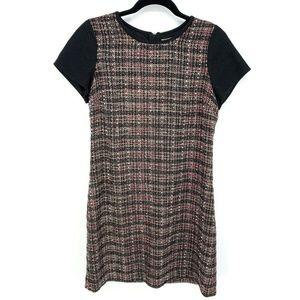BananaRepublic Wool Metallic Tweed Zip Shift Dress
